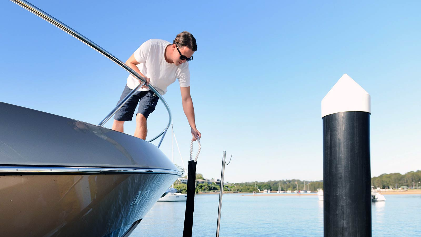 We use and recommend Australian Jetty Fenders equipment for your motor yacht in Sydney